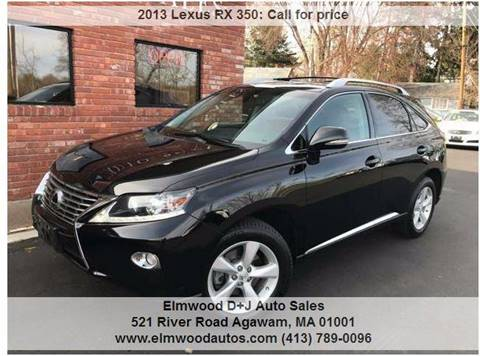 2013 Lexus RX 350 for sale at Elmwood D+J Auto Sales in Agawam MA