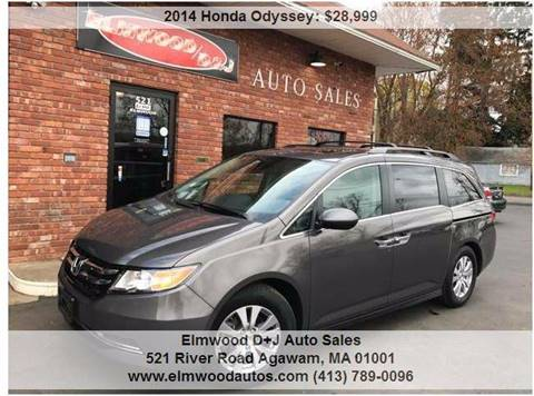 2014 Honda Odyssey for sale at Elmwood D+J Auto Sales in Agawam MA