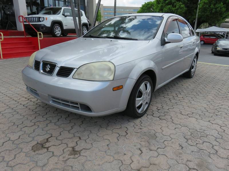2005 SUZUKI FORENZA S 4DR SEDAN silver front air conditioning front air conditioning - automatic