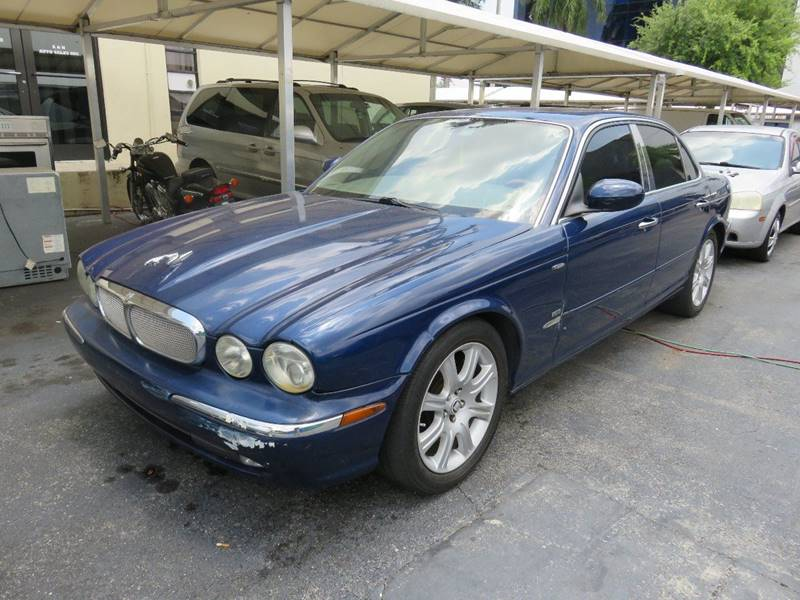 2004 JAGUAR XJ-SERIES XJ8 4DR SEDAN blue front air conditioning front air conditioning - automat