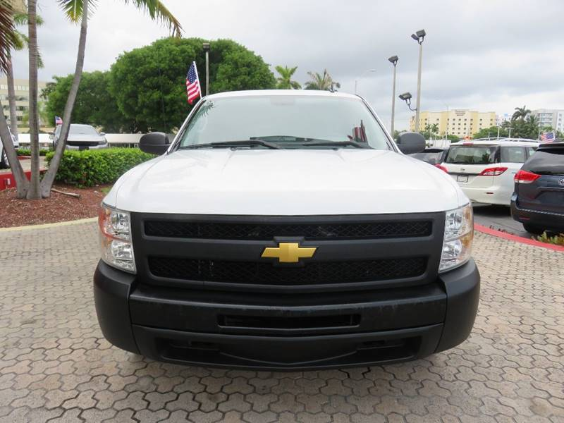 2012 CHEVROLET SILVERADO 1500 WORK TRUCK 4X2 4DR EXTENDED CAB white pickup bed light pickup bed