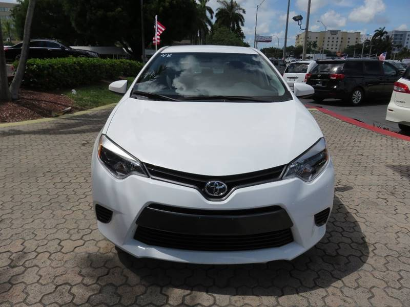 2016 TOYOTA COROLLA LE 4DR SEDAN white door handle color - body-color front bumper color - body-