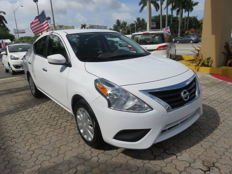 2016 NISSAN VERSA 16 S 4DR SEDAN 4A white headlight bezel color - chrome door handle color - bl