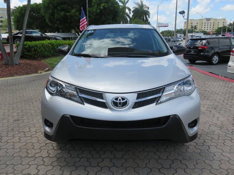 2015 TOYOTA RAV4 LE AWD 4DR SUV silver rear spoiler - roofline door handle color - body-color f