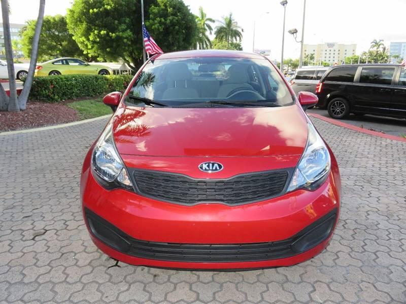 2014 KIA RIO LX 4DR SEDAN 6A red door handle color - body-color front bumper color - body-color