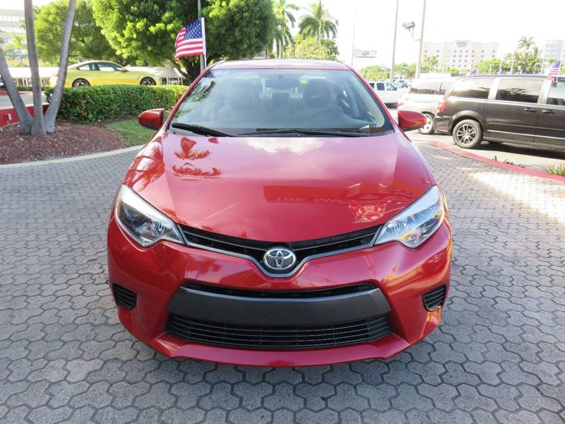 2015 TOYOTA COROLLA LE 4DR SEDAN red door handle color - body-color front bumper color - body-co