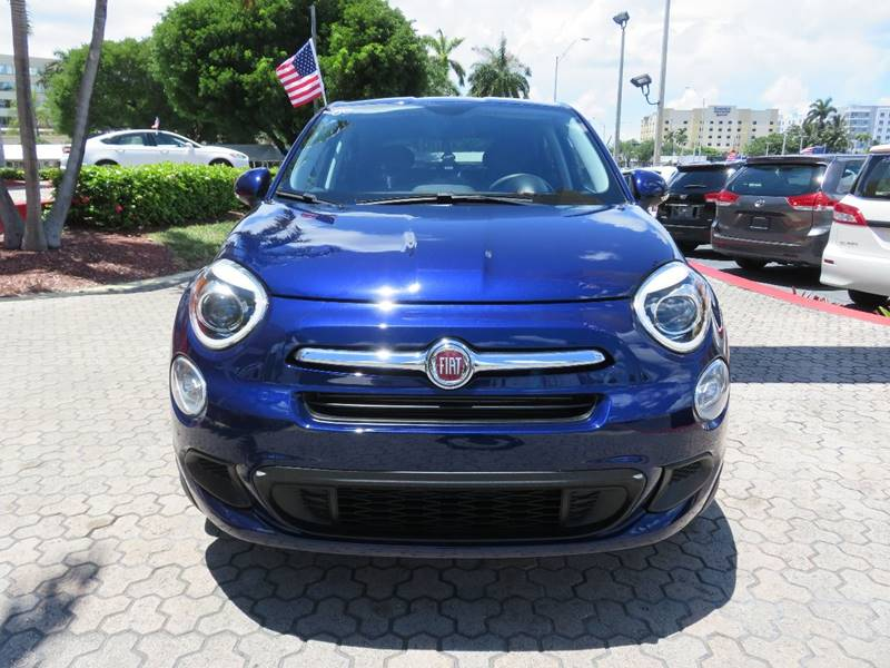 2016 FIAT 500X EASY 4DR CROSSOVER blue fender lip moldings - accent headlight bezel color - chro