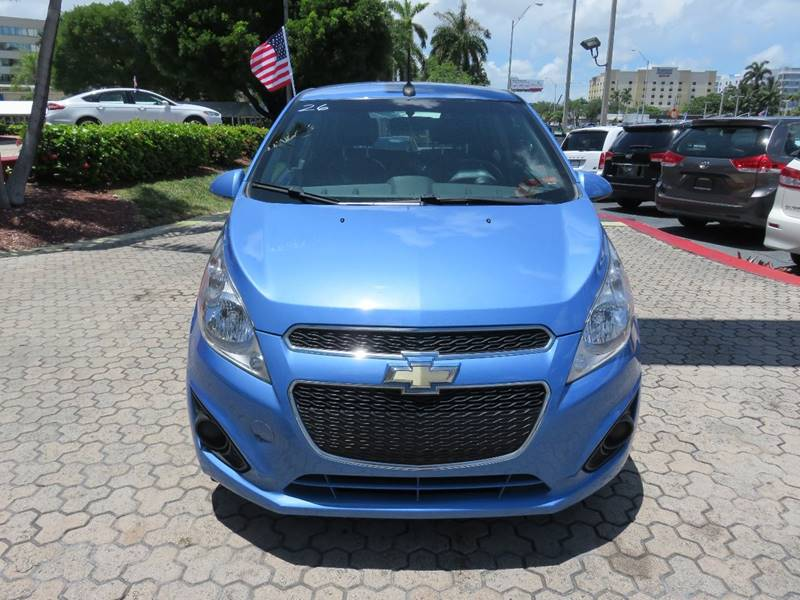 2014 CHEVROLET SPARK 1LT CVT 4DR HATCHBACK blue rear spoiler - roofline door handle color - body