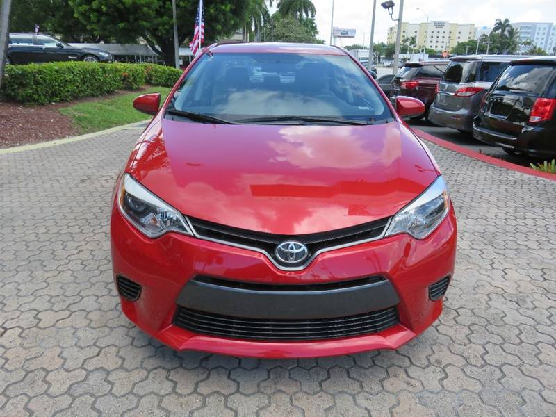 2016 TOYOTA COROLLA LE 4DR SEDAN red door handle color - body-color front bumper color - body-co