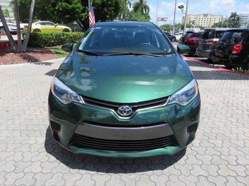2016 TOYOTA COROLLA LE 4DR SEDAN green door handle color - body-color front bumper color - body-