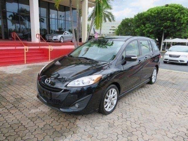 2013 MAZDA MAZDA5 TOURING 4DR MINI VAN black the showroom miami is a family owned first class us
