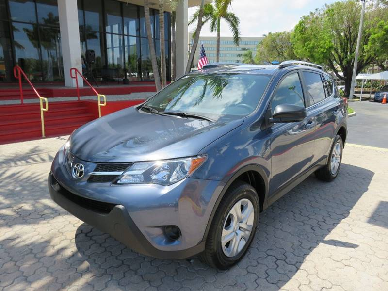 2014 TOYOTA RAV4 LE 4DR SUV blue the showroom miami is a family owned first class used car deale