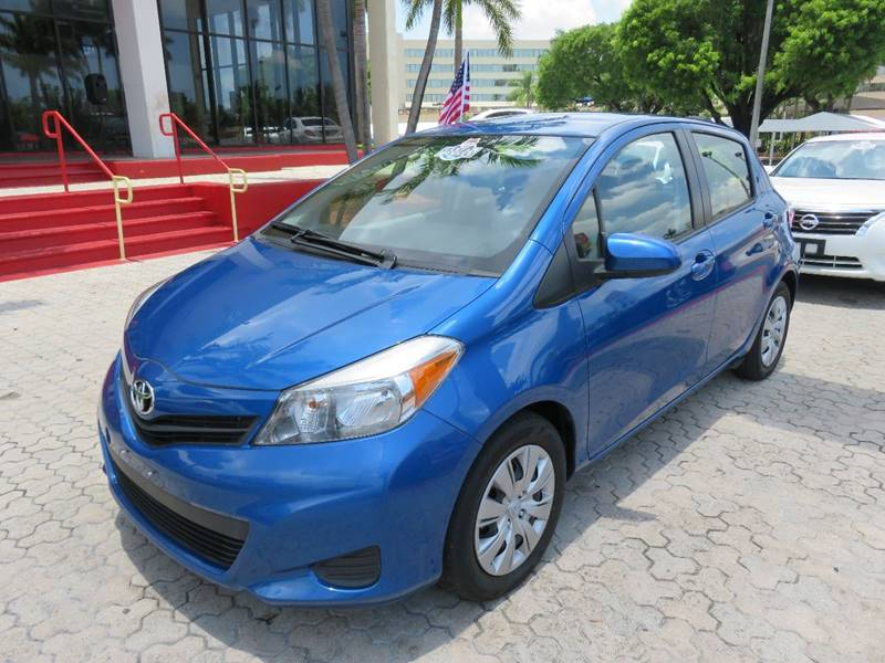 2014 TOYOTA YARIS 5-DOOR LE 4DR HATCHBACK blue the showroom miami is a family owned first class