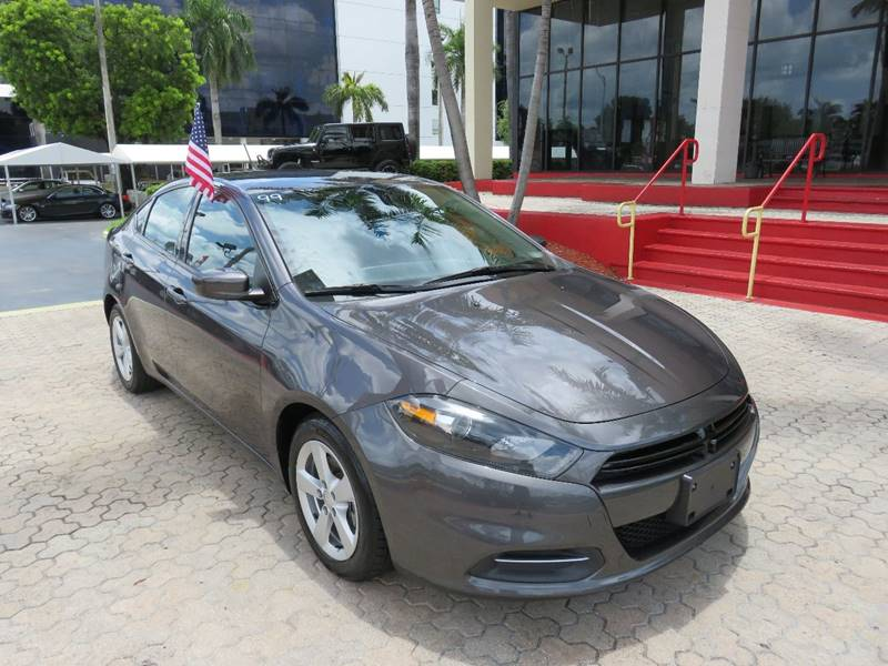2015 DODGE DART SXT 4DR SEDAN charcoal the showroom miami is a family owned first class used car