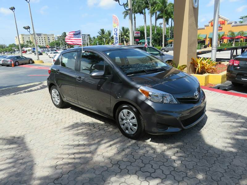 2014 TOYOTA YARIS 5-DOOR LE 4DR HATCHBACK gray the showroom miami is a family owned first class