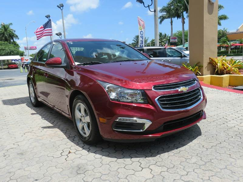 2015 CHEVROLET CRUZE 1LT AUTO 4DR SEDAN W1SD red the showroom miami is a family owned first cla