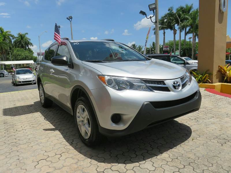 2015 TOYOTA RAV4 LE 4DR SUV silver the showroom miami is a family owned first class used car dea