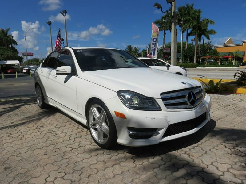 2013 MERCEDES-BENZ C-CLASS C250 SPORT 4DR SEDAN white the showroom miami is a family owned first
