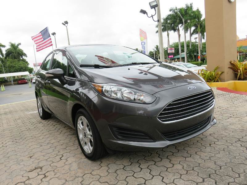 2015 FORD FIESTA SE 4DR SEDAN gray the showroom miami is a family owned first class used car dea