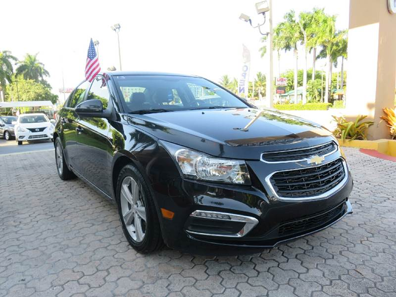 2015 CHEVROLET CRUZE 2LT AUTO 4DR SEDAN W1SH black the showroom miami is a family owned first c