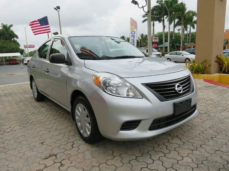 2014 NISSAN VERSA 16 S 4DR SEDAN 4A silver the showroom miami is a family owned first class use