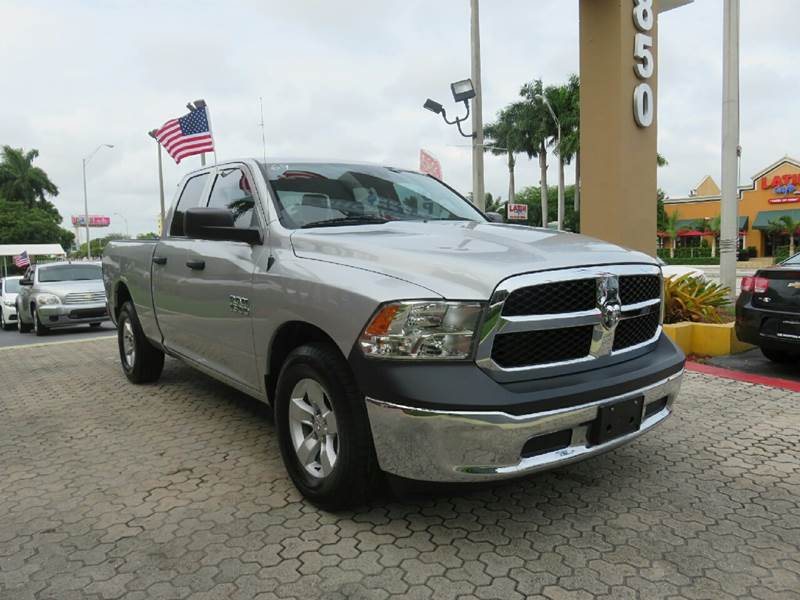 2014 RAM RAM PICKUP 1500 TRADESMAN 4X2 4DR QUAD CAB 63 F silver the showroom miami is a family ow