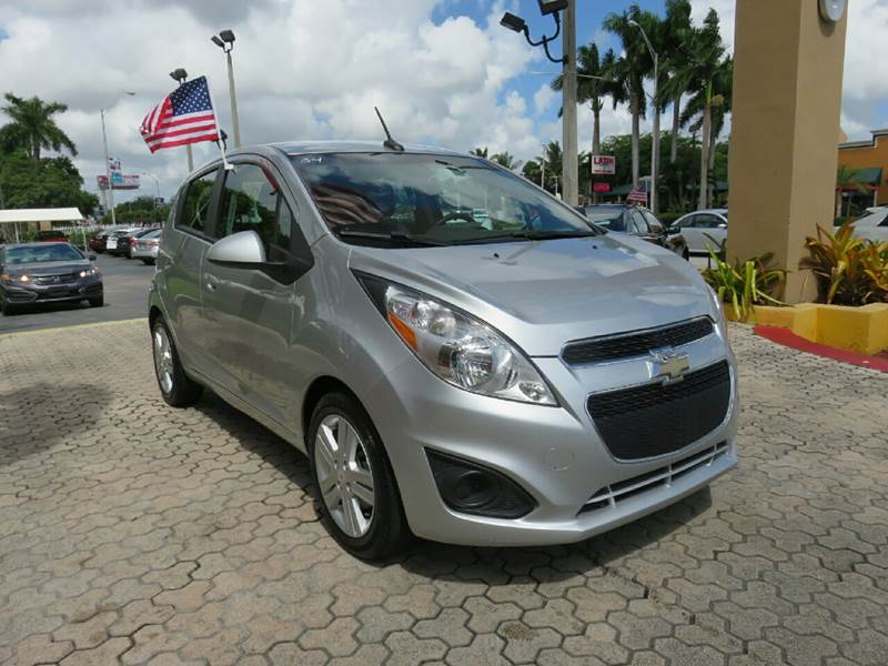 2014 CHEVROLET SPARK 1LT CVT 4DR HATCHBACK silver the showroom miami is a family owned first cla