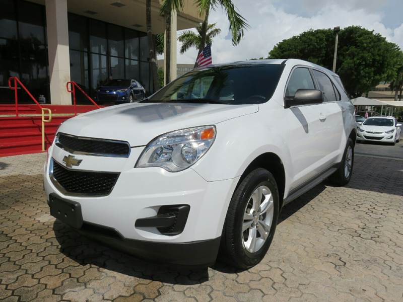 2014 CHEVROLET EQUINOX LS 4DR SUV white the showroom miami is a family owned first class used ca
