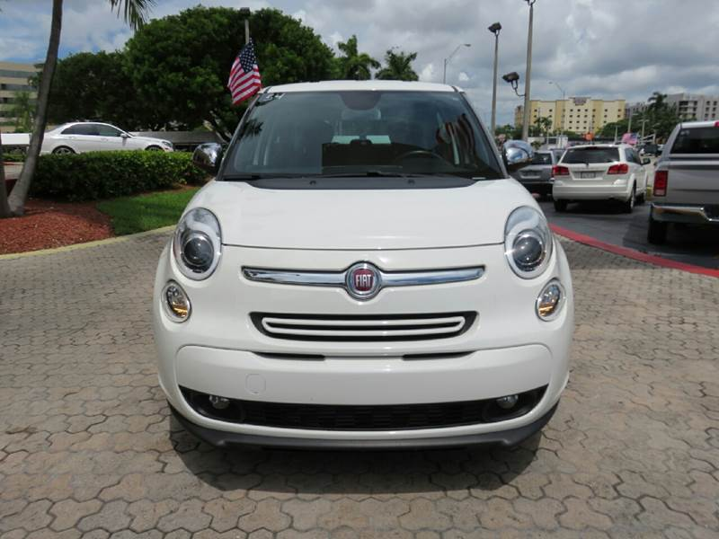2014 FIAT 500L LOUNGE 4DR HATCHBACK white the showroom miami is a family owned first class used