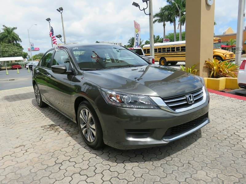 2015 HONDA ACCORD LX 4DR SEDAN CVT gray the showroom miami is a family owned first class used ca