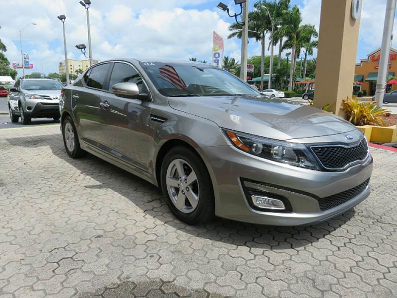 2015 KIA OPTIMA LX 4DR SEDAN gray the showroom miami is a family owned first class used car deal