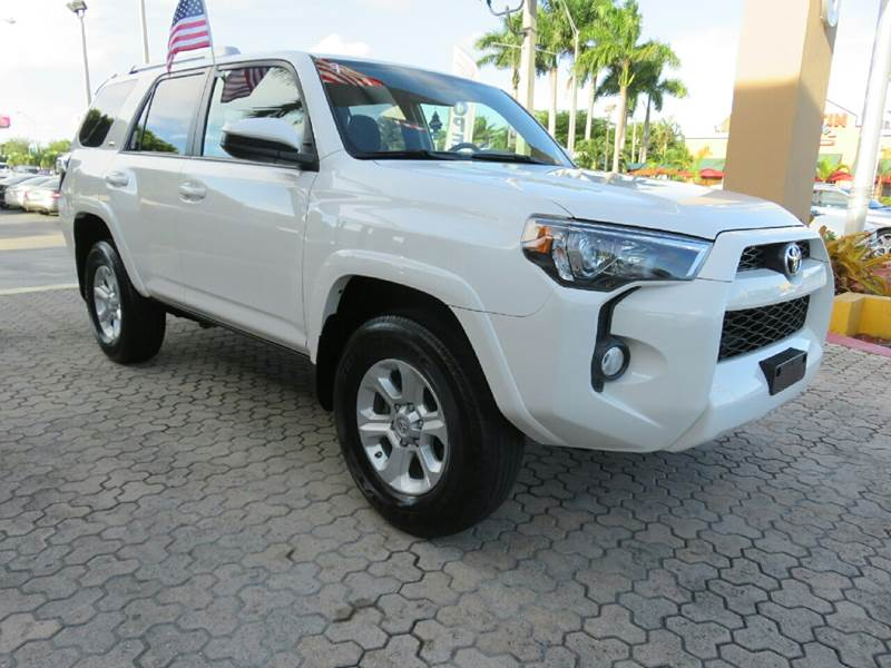 2015 TOYOTA 4RUNNER SR5 4X4 4DR SUV white the showroom miami is a family owned first class used
