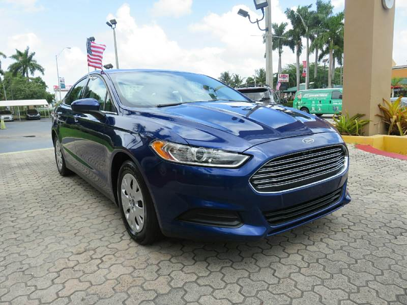 2013 FORD FUSION S 4DR SEDAN blue the showroom miami is a family owned first class used car deal