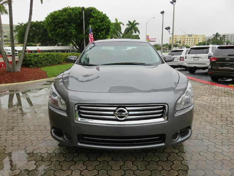 2014 NISSAN MAXIMA 35 S 4DR SEDAN gray the showroom miami is a family owned first class used ca