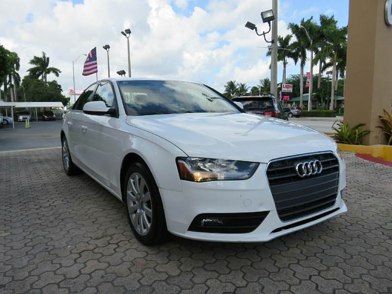 2013 AUDI A4 20T PREMIUM 4DR SEDAN white the showroom miami is a family owned first class used