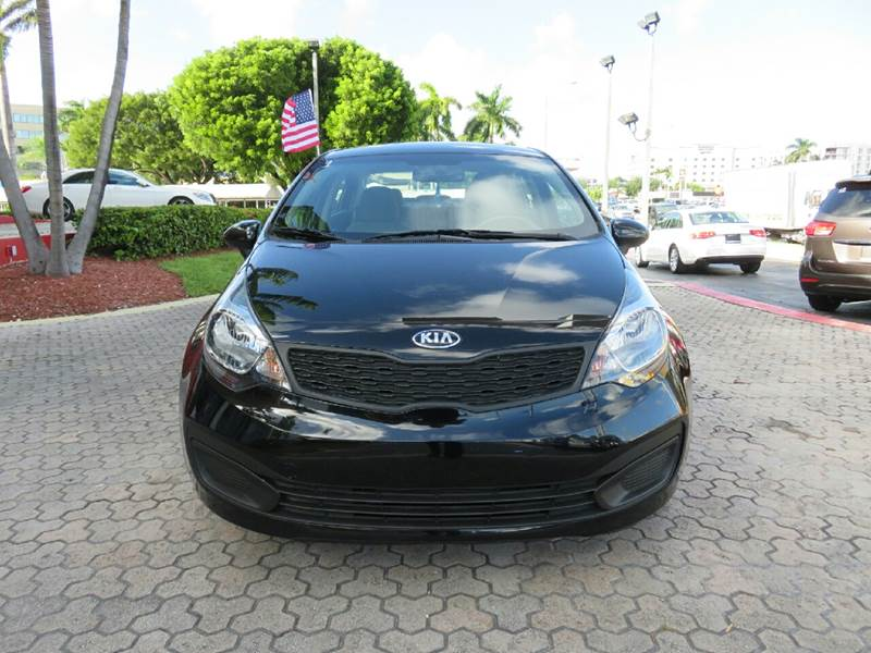 2015 KIA RIO LX 4DR SEDAN 6A black the showroom miami is a family owned first class used car dea