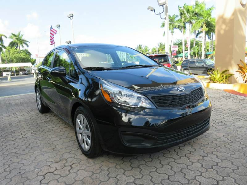 2015 KIA RIO LX 4DR SEDAN 6A black the showroom miami is a family owned first class used car dea