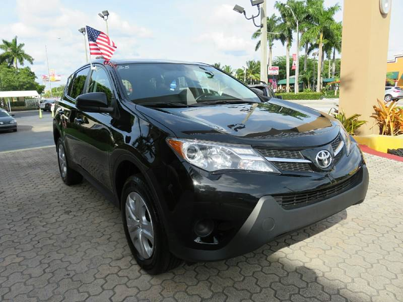 2015 TOYOTA RAV4 LE AWD 4DR SUV black the showroom miami is a family owned first class used car
