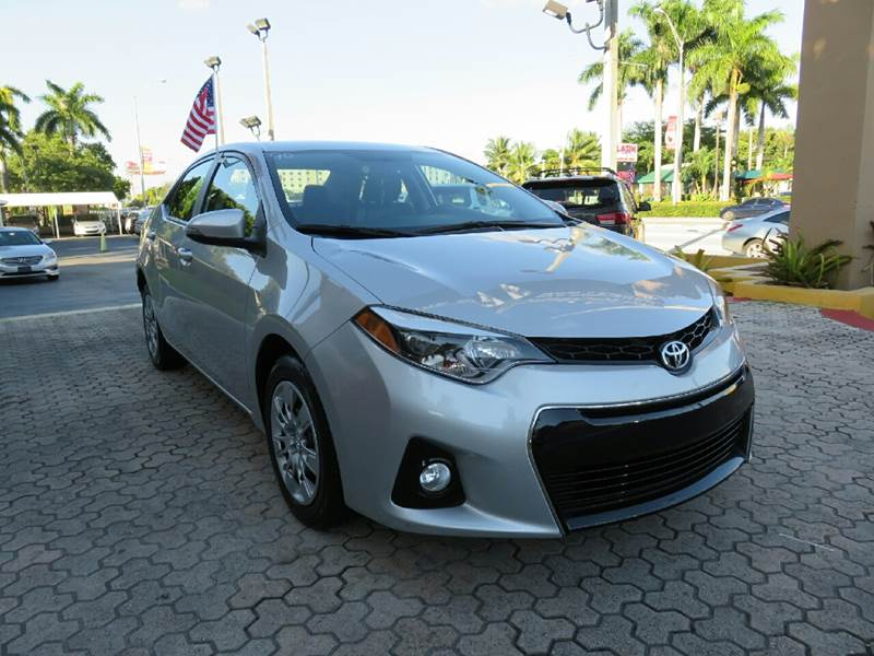 2015 TOYOTA COROLLA S 4DR SEDAN silver the showroom miami is a family owned first class used car