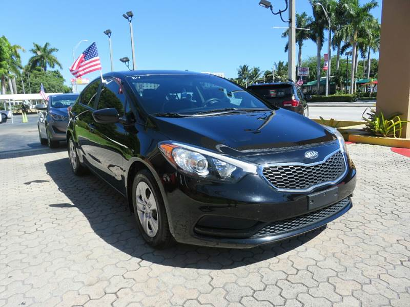 2014 KIA FORTE LX 4DR SEDAN 6A black the showroom miami is a family owned first class used car d