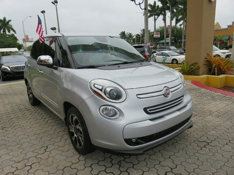 2014 FIAT 500L LOUNGE 4DR HATCHBACK silver the showroom miami is a family owned first class used