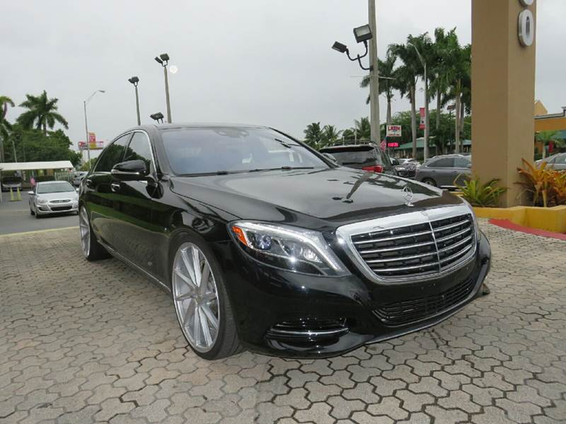 2015 MERCEDES-BENZ S-CLASS S 550 4DR SEDAN black 22 inch vossens  the showroom miami is a fami
