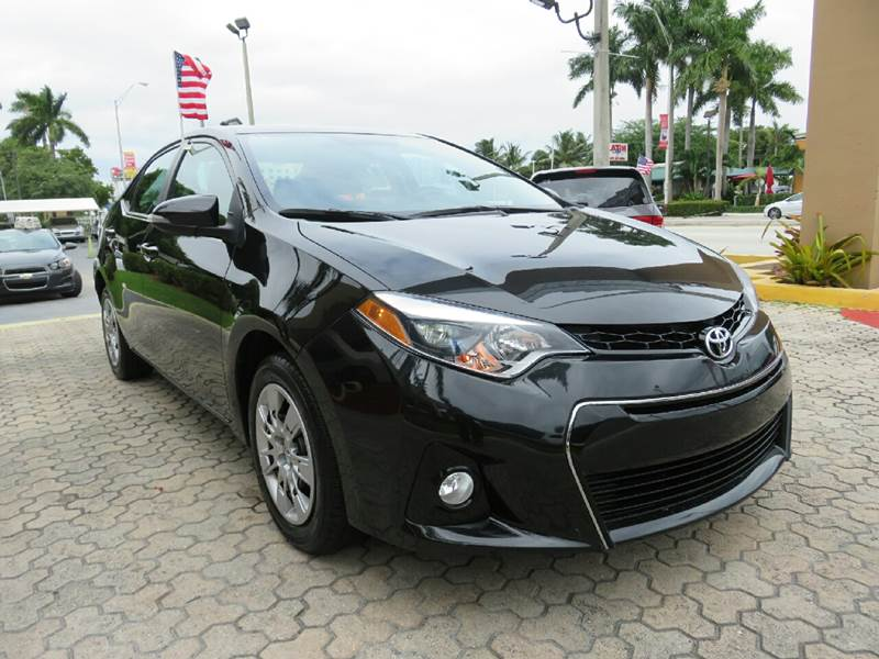 2014 TOYOTA COROLLA S 4DR SEDAN black the showroom miami is a family owned first class used car