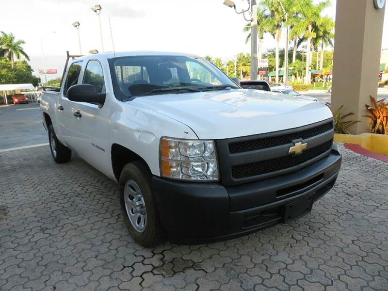 2011 CHEVROLET SILVERADO 1500 WORK TRUCK 4X2 4DR CREW CAB 58 white the showroom miami is a famil