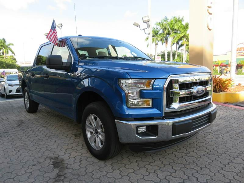 2016 FORD F-150 XLT 4X2 4DR SUPERCREW 55 FT SB blue the showroom miami is a family owned first