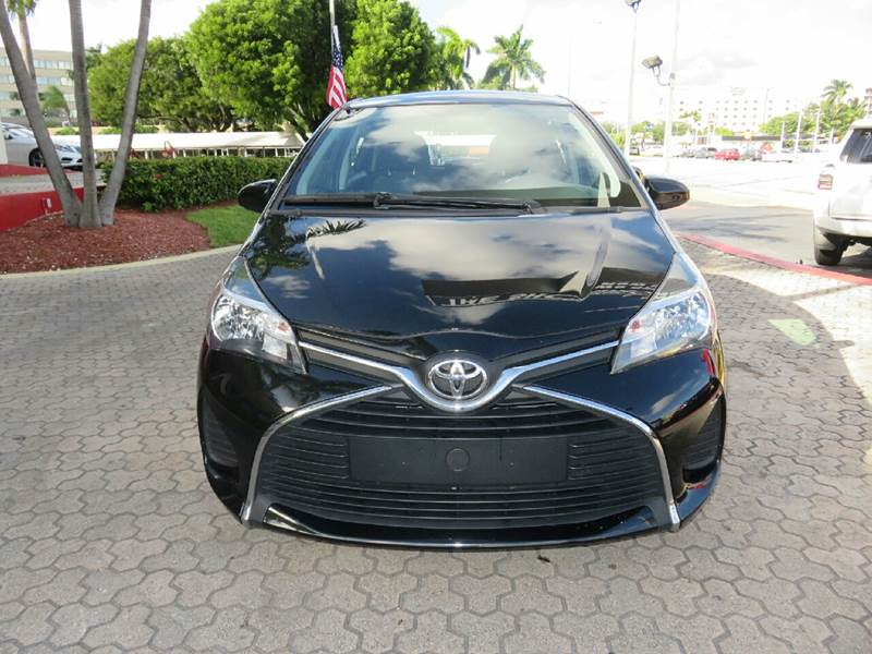 2015 TOYOTA YARIS 5-DOOR LE 4DR HATCHBACK black the showroom miami is a family owned first class