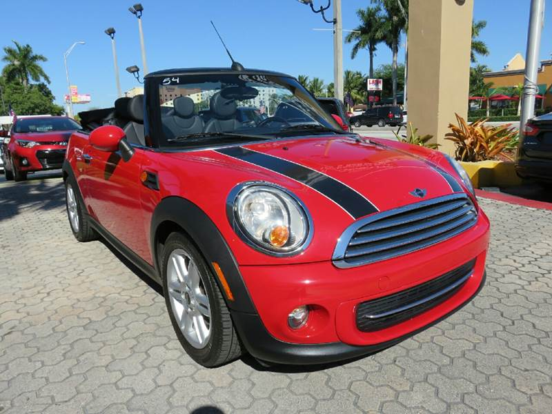 2012 MINI COOPER CONVERTIBLE BASE 2DR CONVERTIBLE red the showroom miami is a family owned first