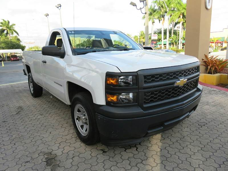 2014 CHEVROLET SILVERADO 1500 WORK TRUCK 4X2 2DR REGULAR CAB 6 white the showroom miami is a famil