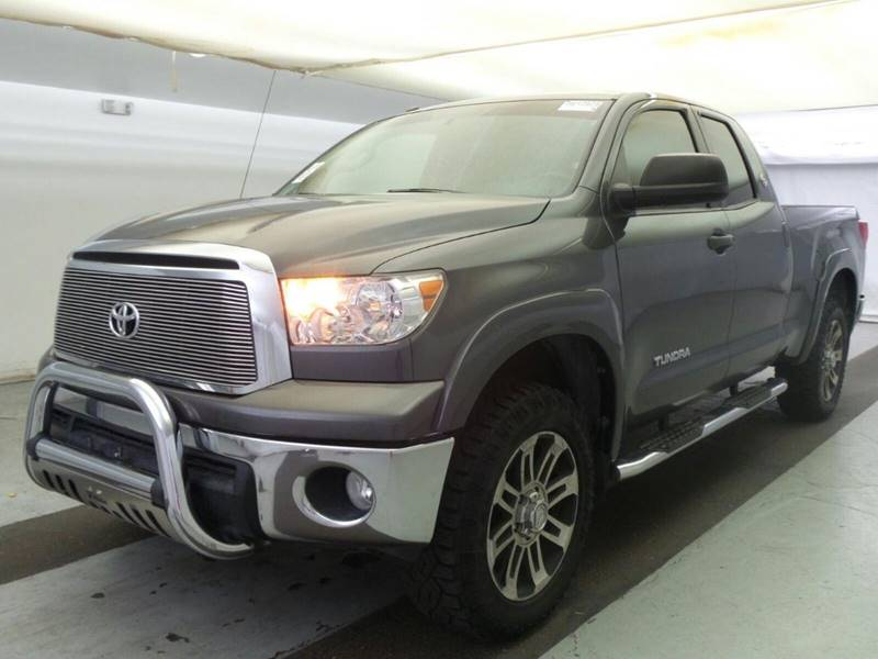 2012 TOYOTA TUNDRA GRADE 4X2 4DR DOUBLE CAB PICKUP gray the showroom miami is a family owned fir