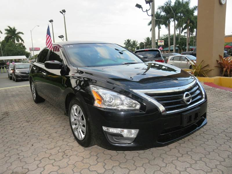 2014 NISSAN ALTIMA 25 S 4DR SEDAN black the showroom miami is a family owned first class used c